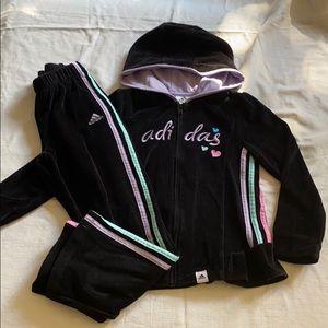 Adidas girls velour track set size 6